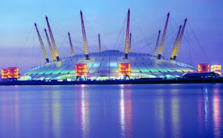 What does B2K mean - Millennium Dome at dusk