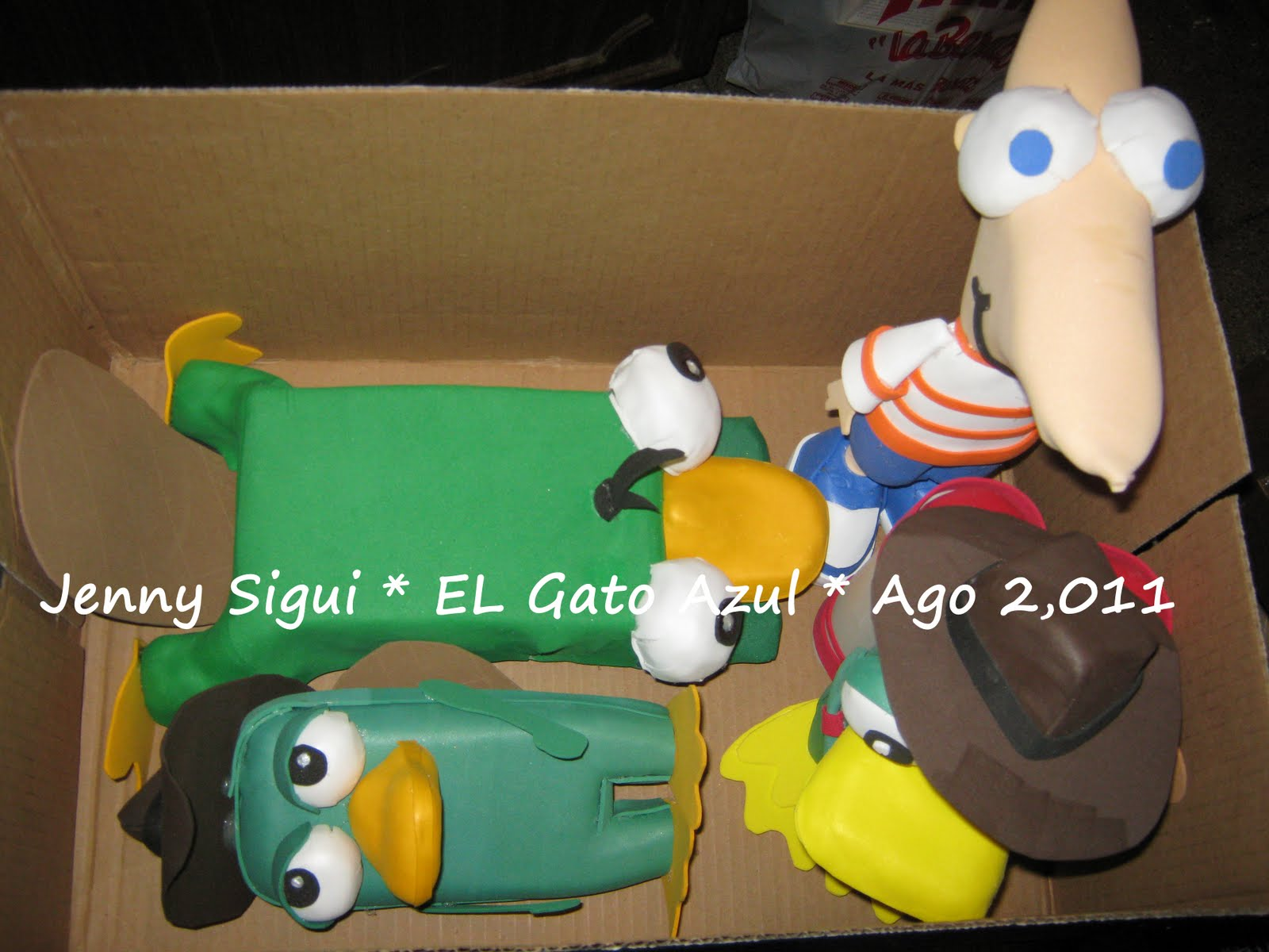 Ornitorrinco Y Phineas 3D  Premios Y Sorpresas Para Fiestas Infantiles