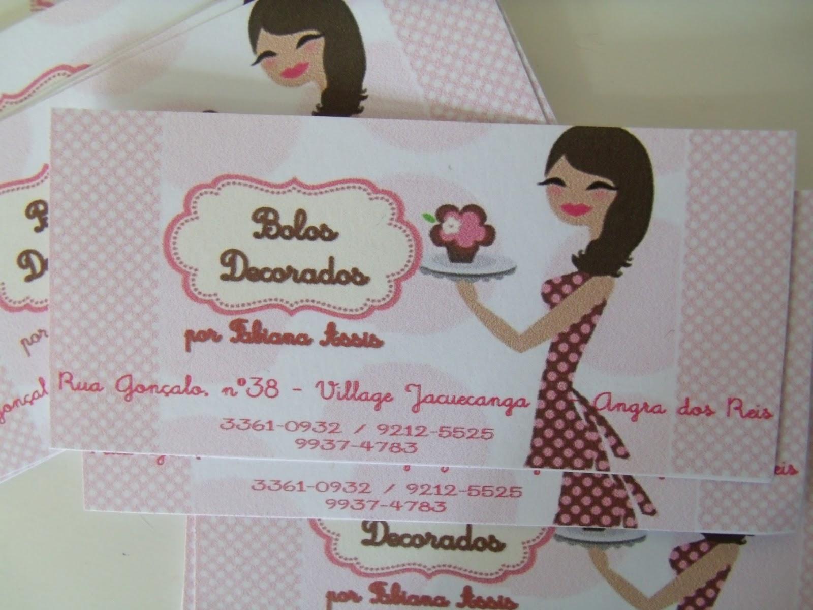 Well-known B.Lembrancinhas: Cartão de Visita - Bolos Decorados VA07