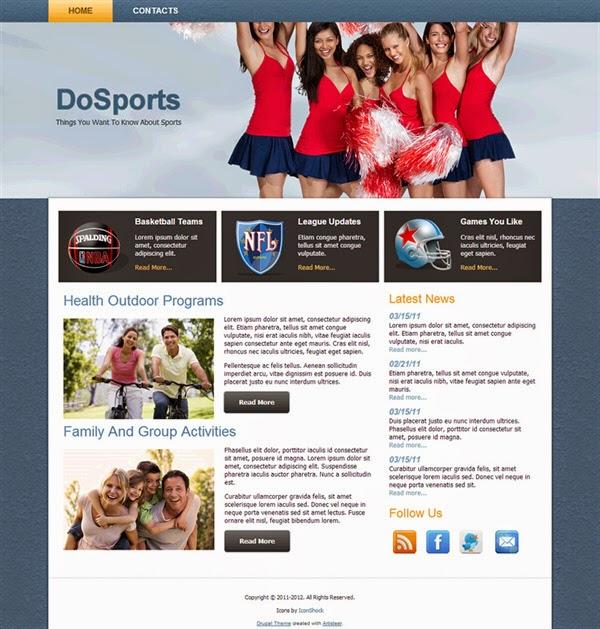 Do Sports - Free Drupal Theme