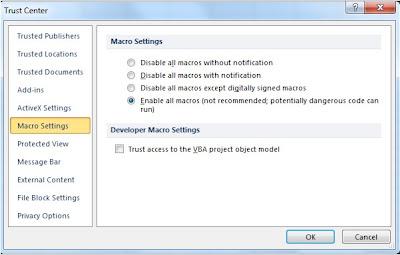 Cara Mengaktifkan Macro Ms. Excel 200 - How to Enable Macro Ms. Excel ...