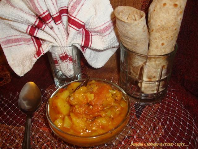 images for Bandhakopir Tarkari,Bengali Cabbage & Potato Curry Recipe / Bengali Cabbage Curry Recipe