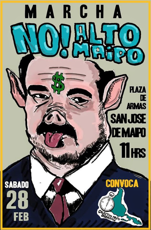 SAN JOSE DE MAIPO: MARCHA NO AL ALTO MAIPO