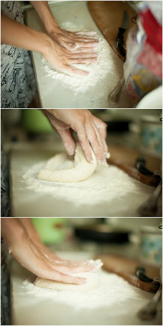 дрожжевое тесто для пиццы в муке