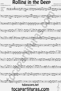 Rolling In The Deep Partitura de Trombón, Tuba, Bombardino Sheet Music for Trombone, Tube, Euphonium