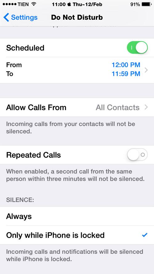 Thiết lập trong iOS 8 để tiết kiệm pin iPhone 7