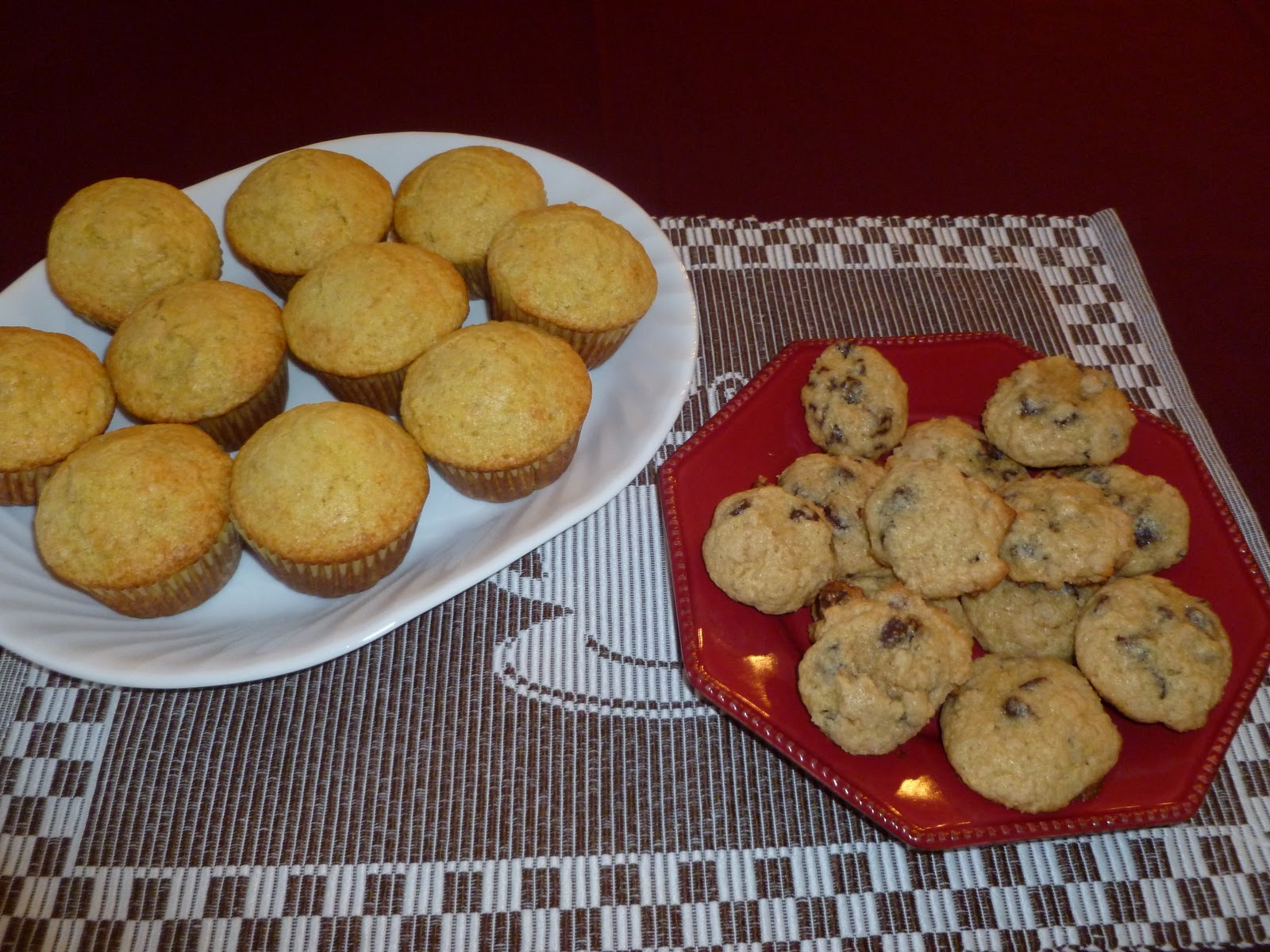 Like to Bake and Cook!: Banana Corn Muffins and Chocolate Chip ...