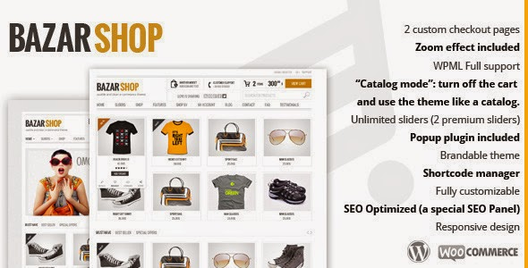 Bazar Shop 2.2.0 – Multi-Purpose eCommerce Theme,Theme bán hàng cho WordPress