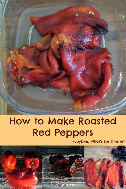 How to Make Roasted Red Peppers:  A simple tutorial on how to roast sweet red bell peppers at home.