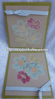 Watercolour Painting Flowers Card