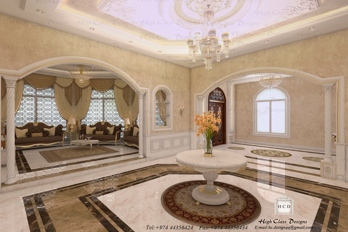 High class designs classic design of luxury villa for Interior designs villas