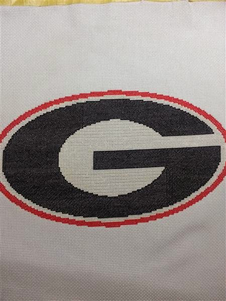 EASY PATTERNS: Georgia Bulldogs cross-stitch pattern