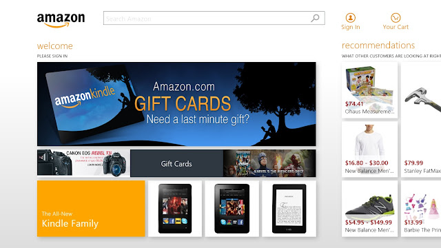 Amazon app for Windows 8