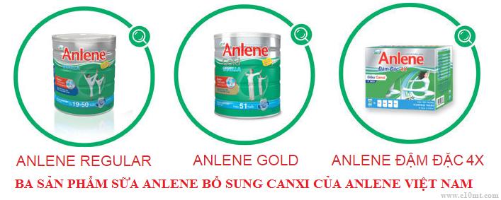 Ba sản phẩm chủ lực của sữa Anlene bổ sung canxi cao