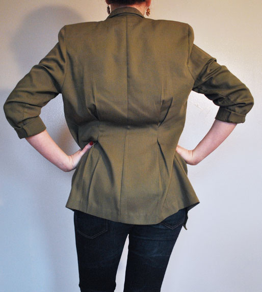 a style of your blog, army green fitted jacket, zara jeans