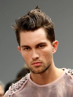 Mens Brushed Up Hairstyles with Gel