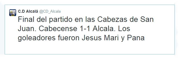 Crónica del Cabecense - C.D. Alcalá