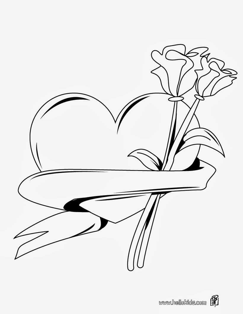 5 Valentine Printable Coloring Pages
