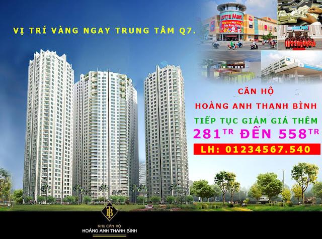 Căn hộ Hoàng Anh Thanh Bình tiếp tục giảm giá thêm 281tr đến 558tr