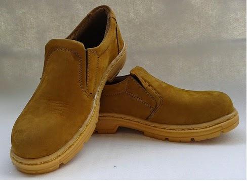 Beli Sepatu Safety Pantofel Kulit Nubuck