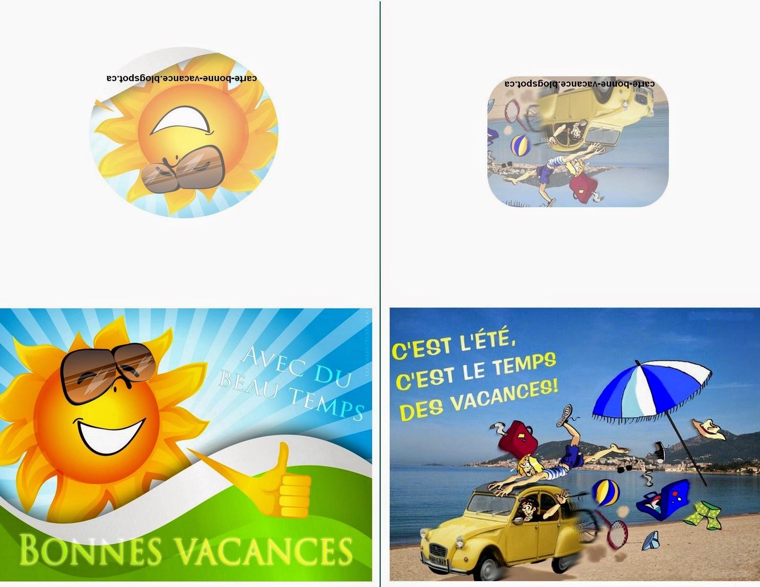 CARTE DE BONNES VACANCES A IMPRIMER GRATUITMENT