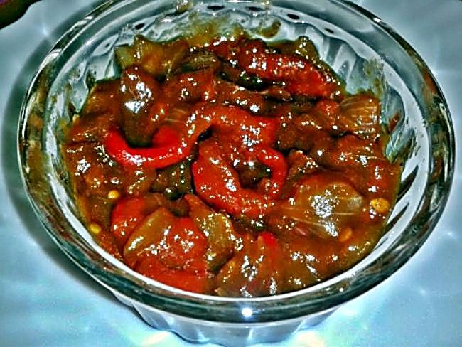 Chutney de tomates y pimiento rojo