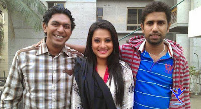Bangladeshi Film Actress Purnima with Talented Actor Chanchol Chowdhury and Director Mostafa Kamal Raj.