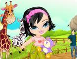 Puanlı Hayvanat Bahçesi Kızı Oyunu