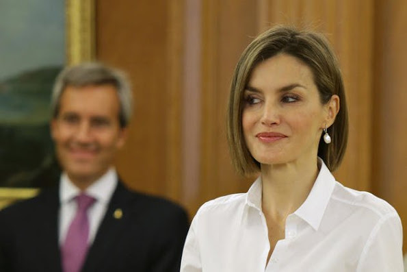 Queen Letizia and King Felipe attended audiences in Madrid