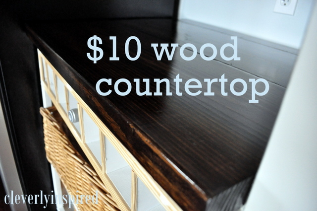 Exceptionnel $10* DIY Wood Countertop