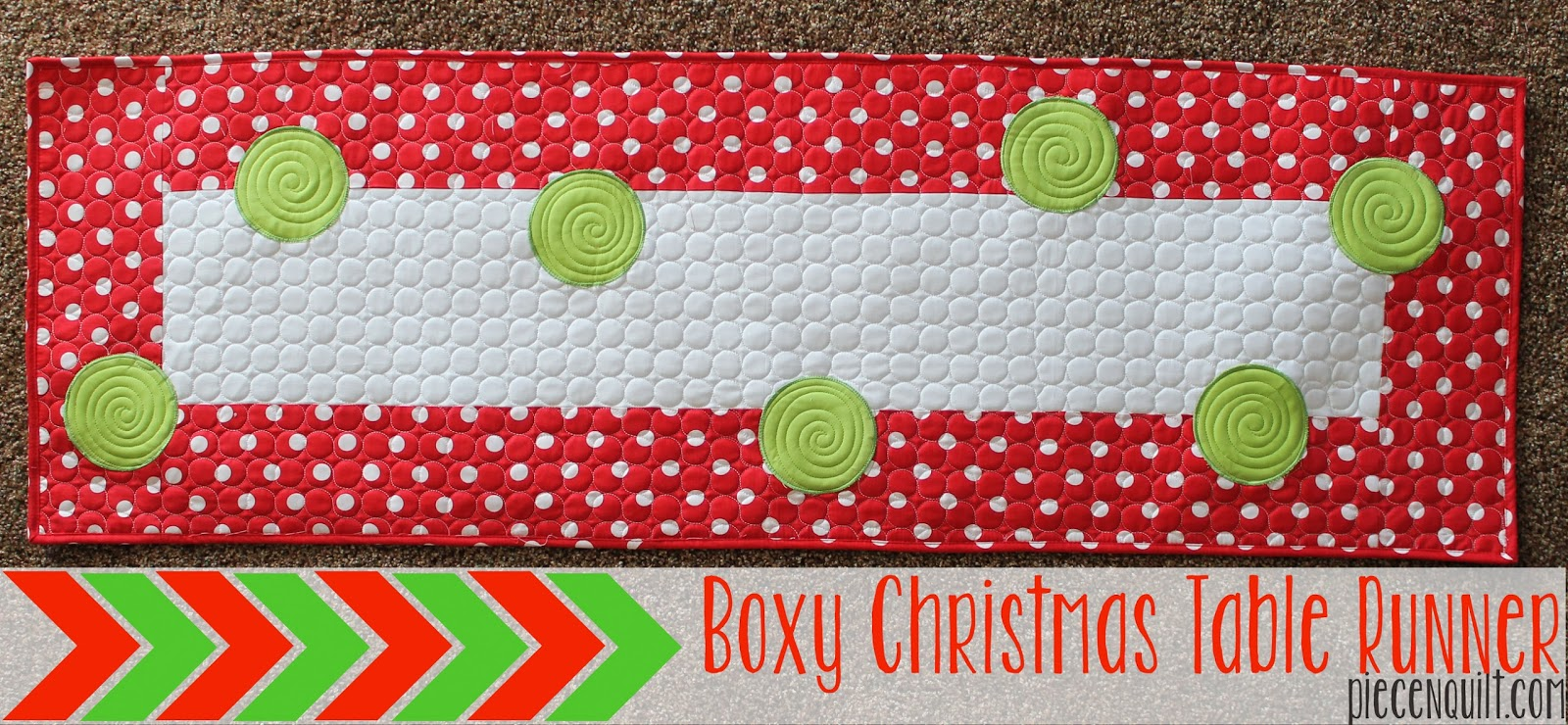boxy christmas table runner tutorial