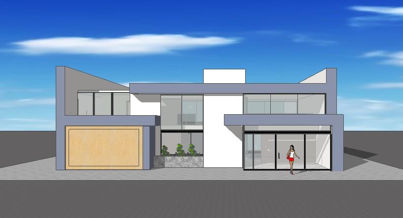 Dise os de frentes de casas fachadas de casas for Disenos de frentes de casas