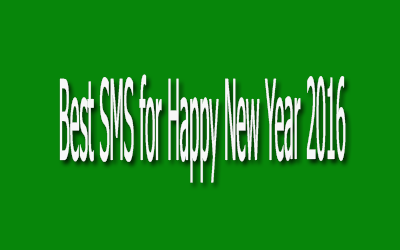 Best SMS for Happy New Year 2016