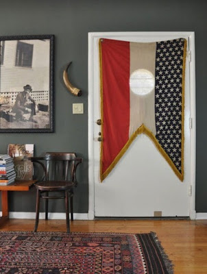 This eclectic vintage space gets a touch of Americana from