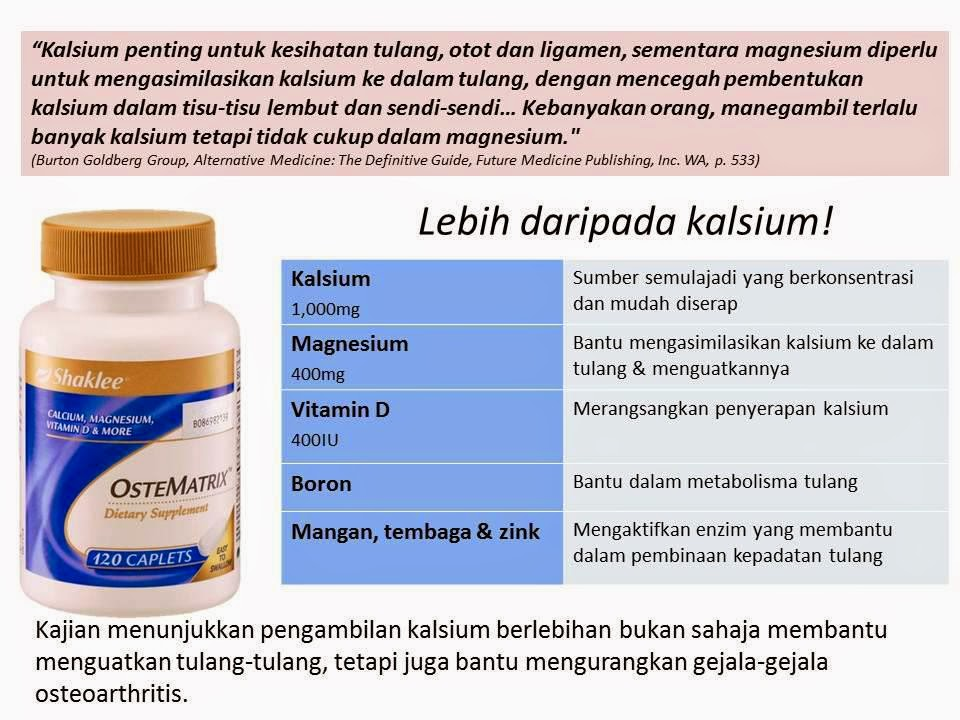 KANDUNGAN OSTEMATRIX, SET SENDI, OSTEOPROSIS