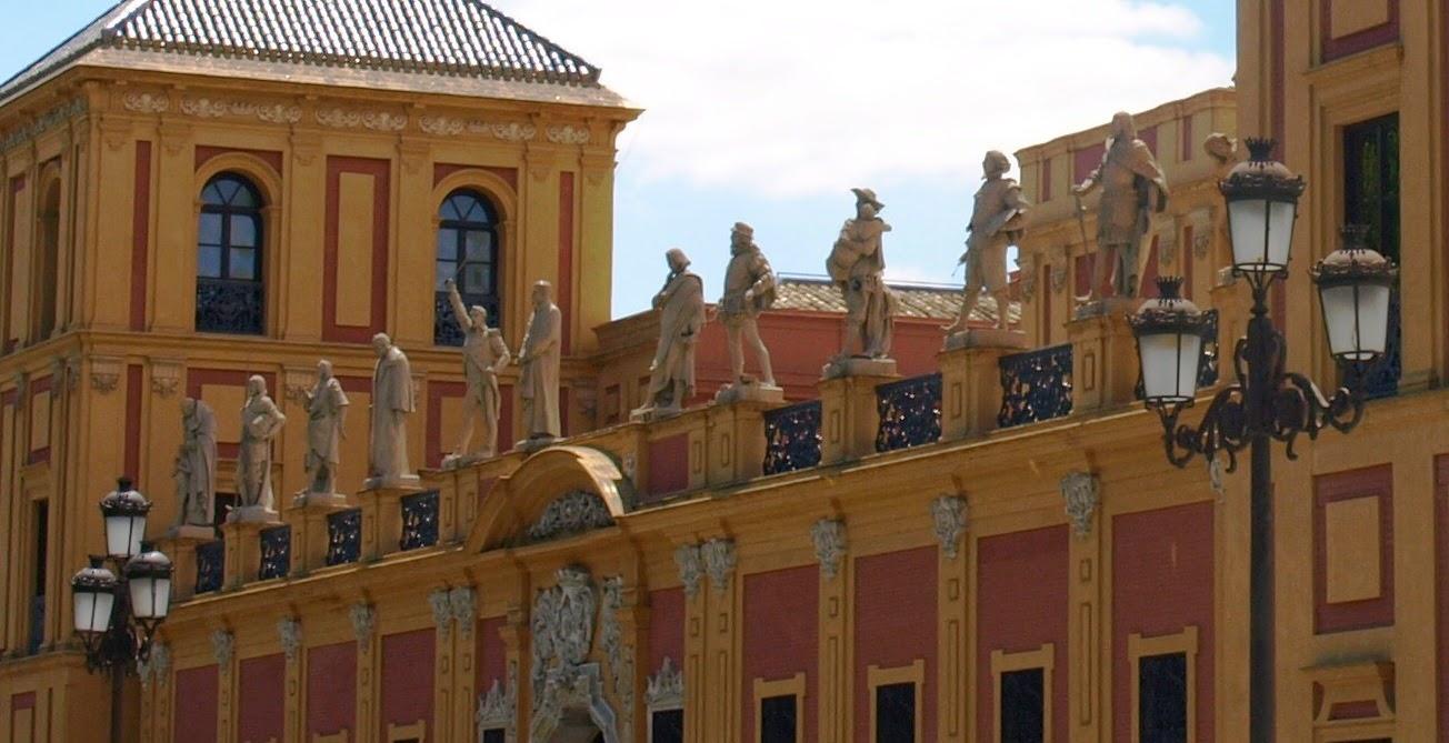 Estatuas sevillanos ilustres - Palacio de San Telmo - Sevilla