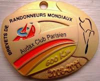 600 km medal