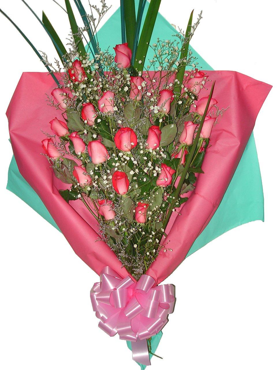 Flores con Bonitos Mensajes de Cumpleaños ツ Imagenes  - Ramo De Rosas Imagenes