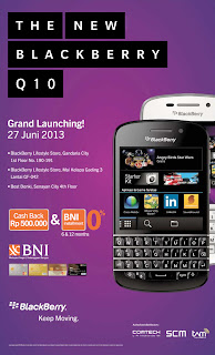 Launching Blackberry Q10 di Indonesia