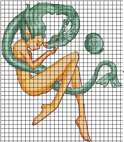 dragon punto de cruz