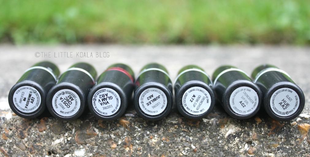My MAC Lipstick Collection | The Little Koala: My MAC Lipstick ...