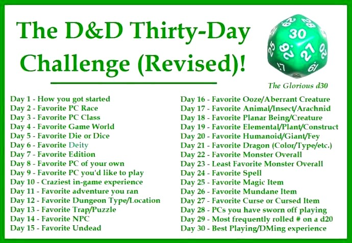 barking alien the d d thirty day challenge in thirty minutes
