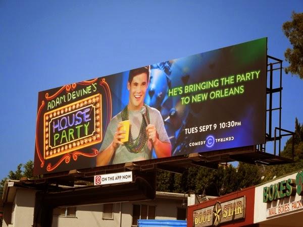 Adam Devine's House Party New Orleans season 2 billboard