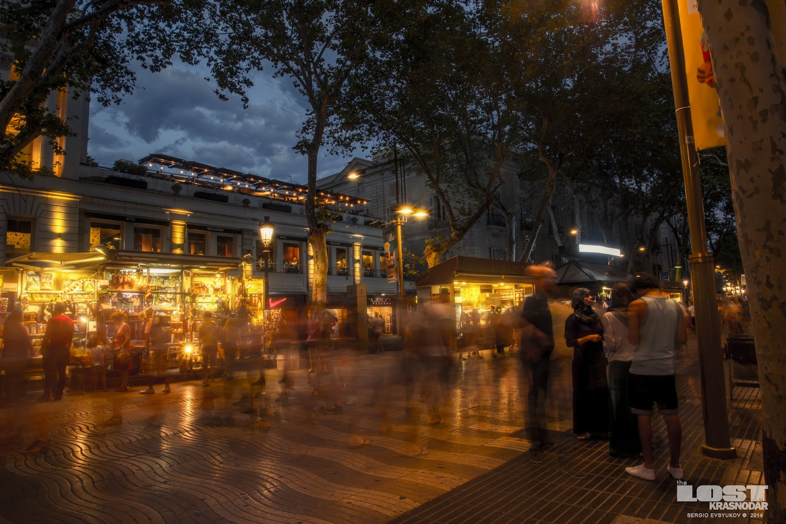 La Rambla evening