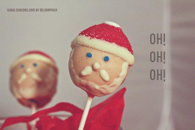 Cakepops Papa Noel