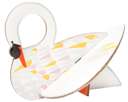 Swan Pop-Up Card from Kidsonroof