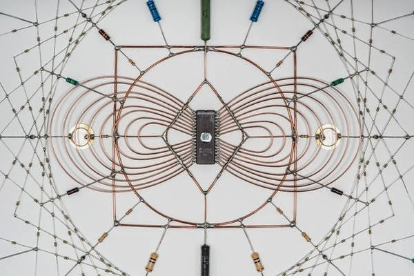 Technological Mandalas Made from Soldered electronic Components 8
