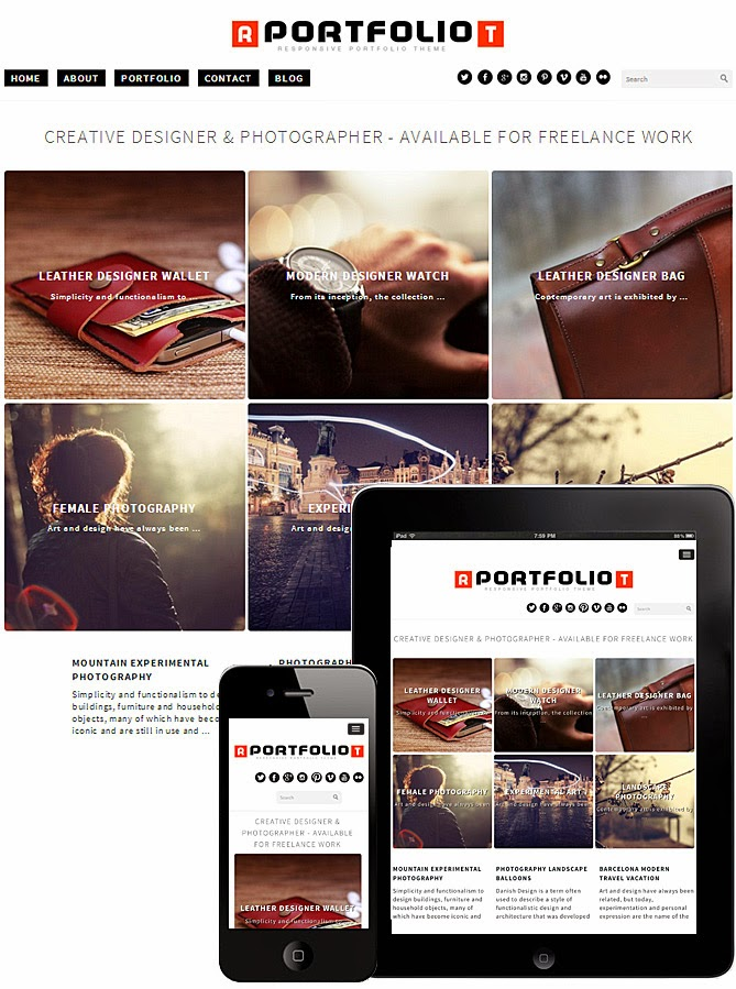 Download Responsive Portfolio Theme - Free Wordpress Responsive Portfolio Theme 2015
