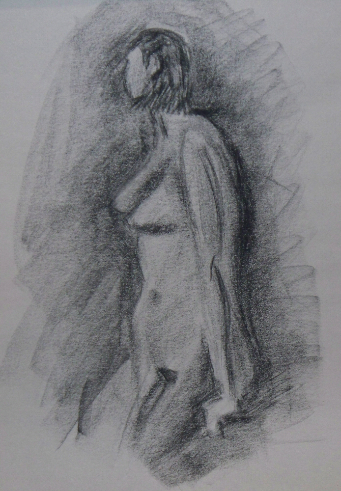 140916 - Day 16a - 30 in 30 Challenge - Charcoal on newsprint -  Dave Casey - TheDailyPainter.jpg