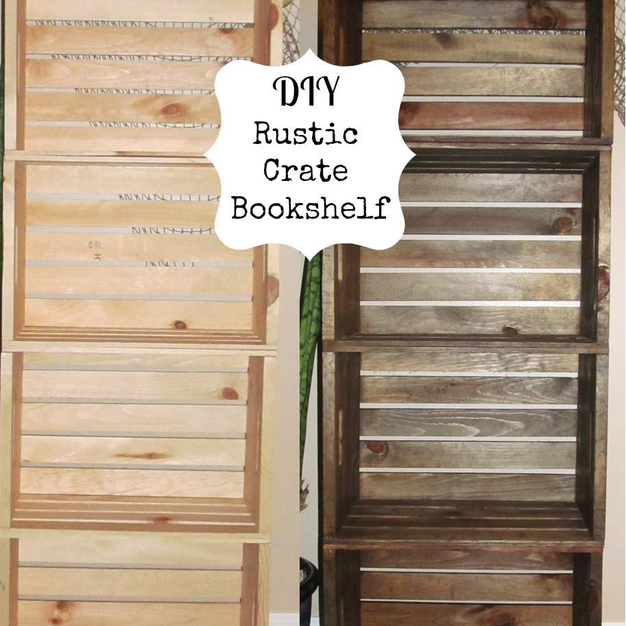 Pdf diy making bookshelf out wood download miniature for Shelves made out of crates
